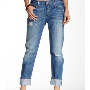 LEVEL 99 Distressed Straight Leg Jeans